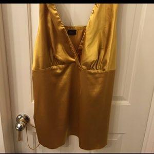 TORRID size 2 gold silk top